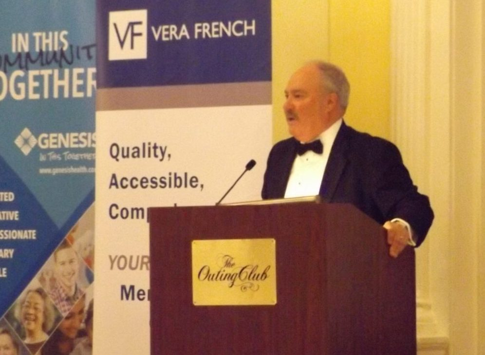 Decker Ploehn speaks at Vera French Gala