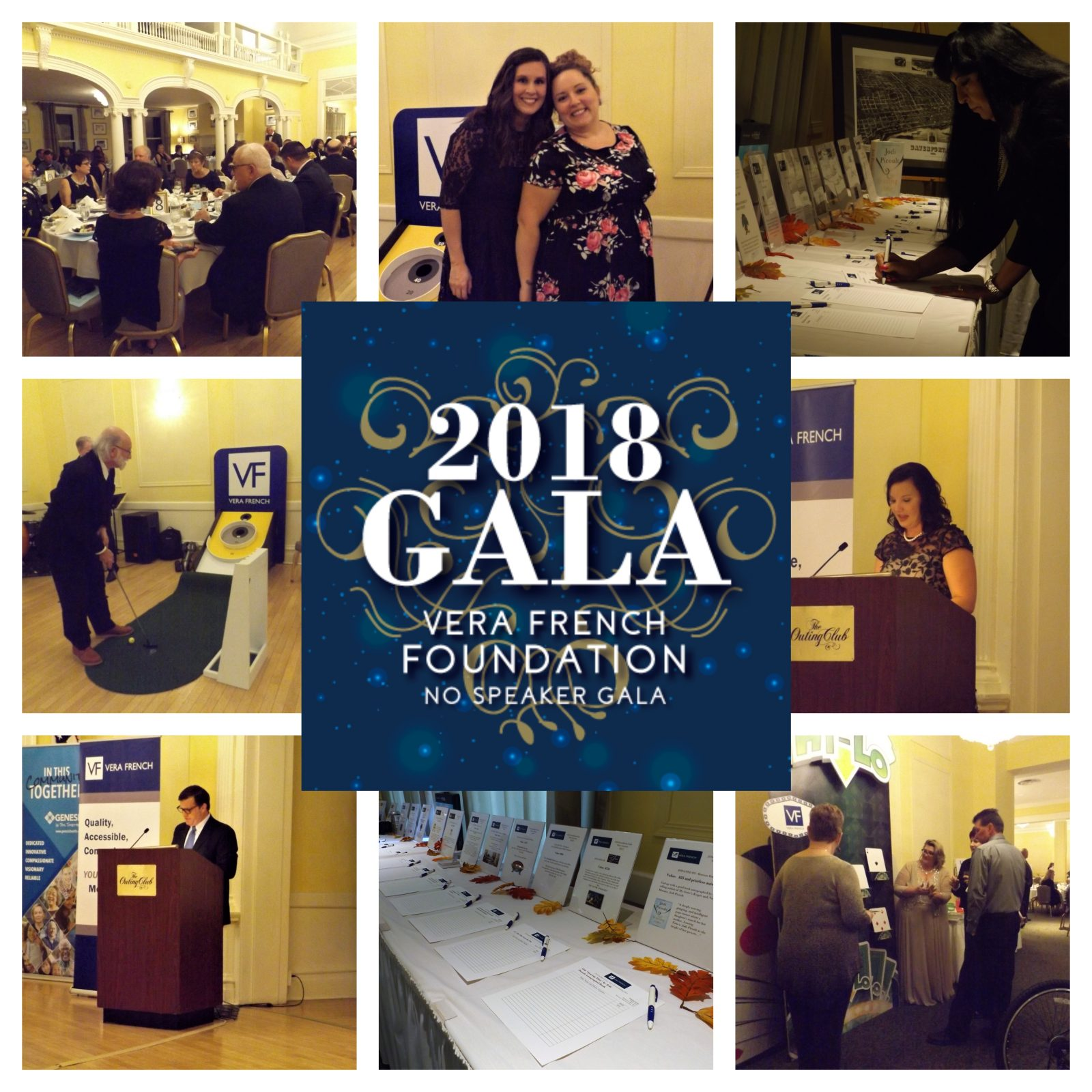 Collage of Vera French 2018 Gala event