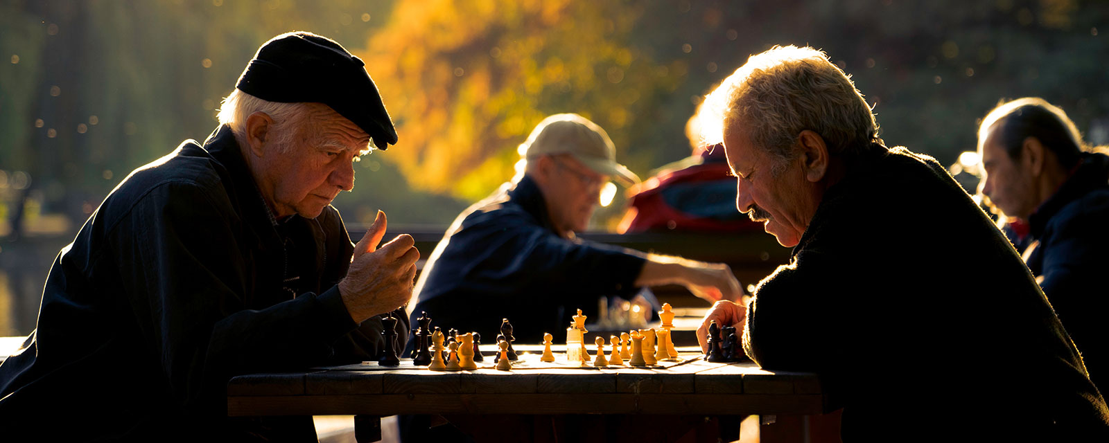 Old men playing chess